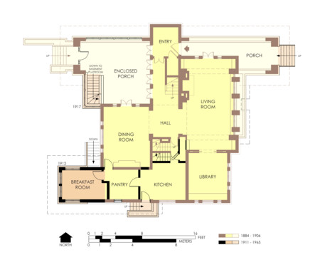 Hills Decaro House First Floor Plan Pre Fire