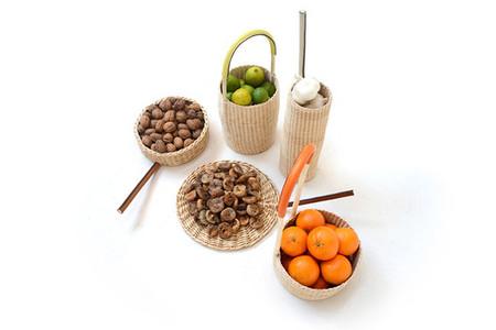 Bellos contenedores naturales para tus frutas y verduras
