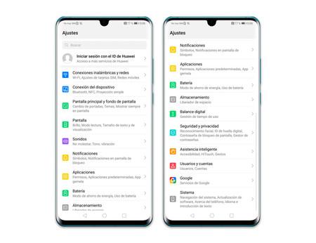 Huawei Ajustes