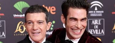 Jon Kortajarena confirma el triunfo del tuxedo en rojo durante los Premios Goya 2020