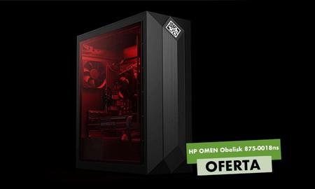 Para los que prefieren los equipos de sobremesa, Amazon tiene el HP Omen Obelisk 875-0018ns rebajado en 100 euros