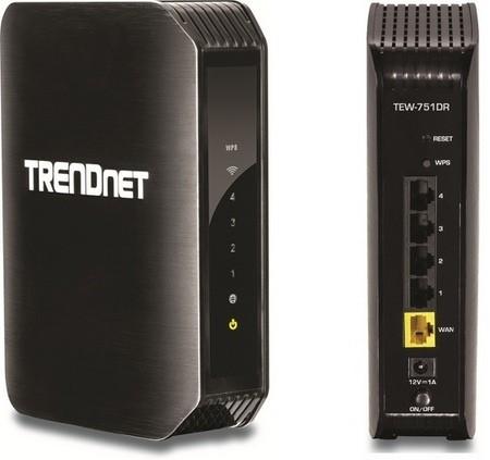 TRENDnet TEW-751DR,  router dual WiFi N a 300 Mbps de bajo consumo