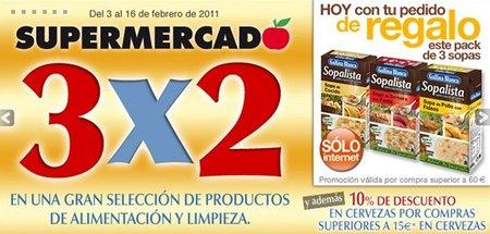 3x2 en el supermercado de El Corte Inglés