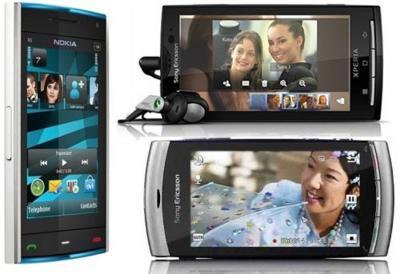 Precios Sony Ericsson XPERIA X10, Vivaz y Nokia X6 con Vodafone