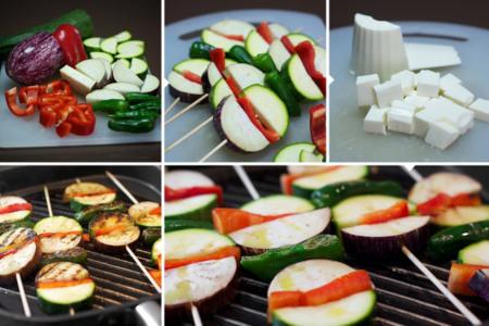 Brochetas verduras siken - elaboración