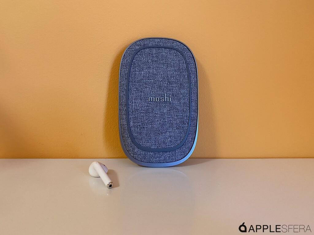 Porto Q de Moshi, el cargador inalámbrico con powerbank incluido con el que cargar nuestro iPhone en cualquier situación
