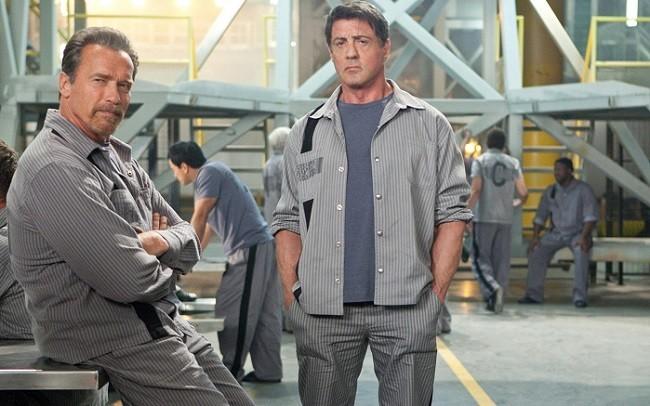 Arnold Schwarzengger y Sylvester Stallone en 'Plan de escape'
