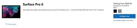 Surface Pro 6 Precio