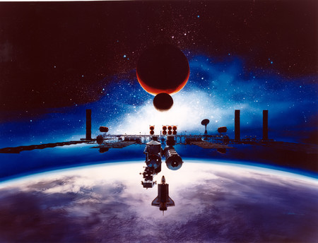 Artist S Conception Of Space Station Freedom Gpn 2003 00092