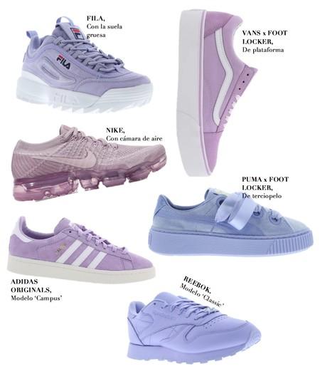 Zapatillas Violetas Pantone 2018