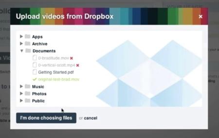 Vimeo se alía con Dropbox para poder subir nuestros vídeos más cómodamente