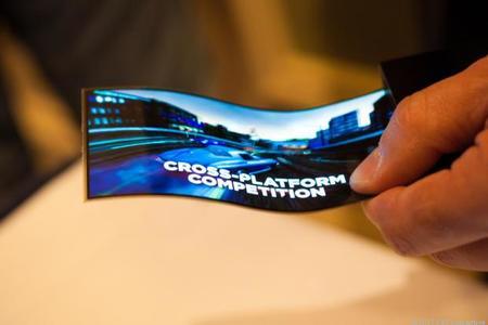 Samsung muestra sus prototipos de pantallas flexibles.