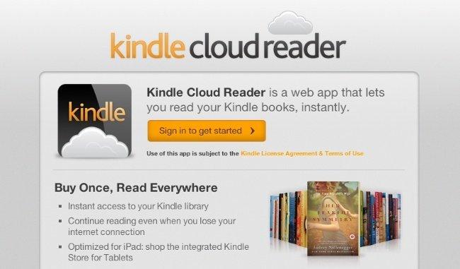 Kindle Cloud Reader, Amazon se salta las reglas de Apple lanzando un lector de libros en HTML5