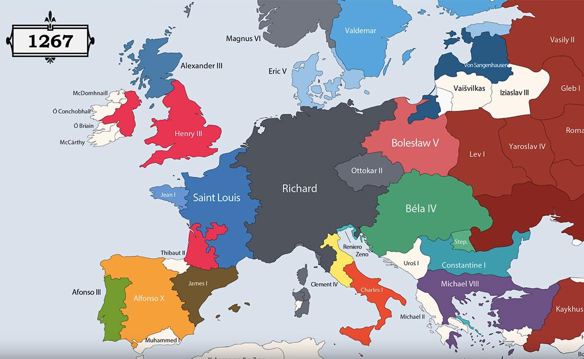 Todos Los Gobernantes De La Historia De Europa Resumidos En Este Fantastico Video Mapa