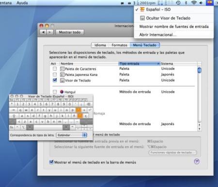 af58b43c3bf88 Muestra un visor de teclado en pantalla en Mac OS X