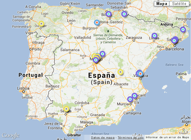 Mapa de gasolineras con GNC