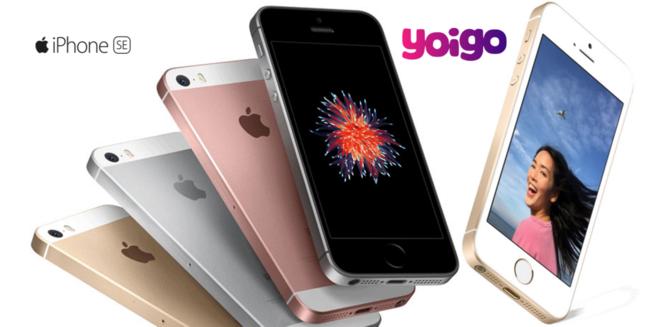Precios iPhone SE con Yoigo
