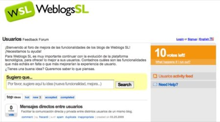 Weblogs S.L. UserVoice