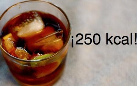 Solución a la adivinanza: una copa tiene unas 250 kcal