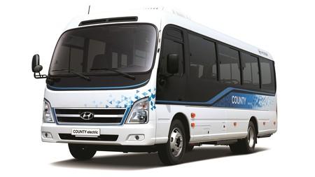 El Hyundai County Electric es el autobús 100% eléctrico de Hyundai, y tiene hasta 250 km de autonomía