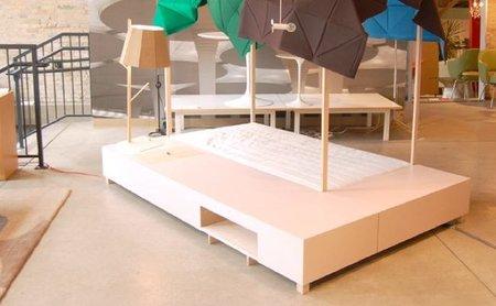 Una cama de inspiración coreana