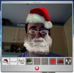 SantaSnaps: Conviértete en Papá Noel gracias a la iSight de tu Mac