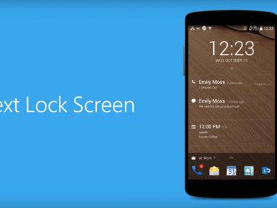 Next Lock Screen se actualiza, ahora con desbloqueo por huella y contactos inteligentes