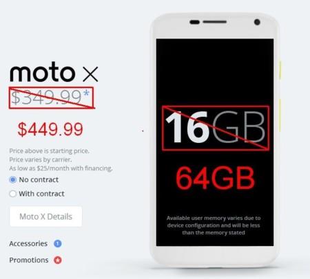 Motorola mete 64GB al Moto X, se inventa un sistema de prueba antes de comprar