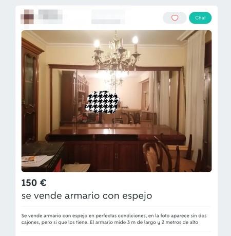 Window Y Se Vende Armario Con Espejo De Segunda Mano Por 150 Eur En Cea En Wallapop