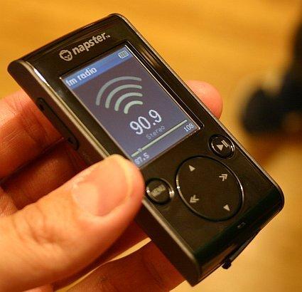 Reproductor Napster de 1 GB en directo