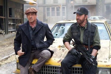 Sylvester Stallone y Chuck Norris en