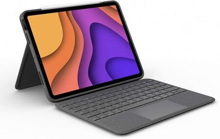 Logitech Folio Touch iPad funda teclado con tecnología táctil Trackpad y con conexión instantánea Smart Connector iPad Air...