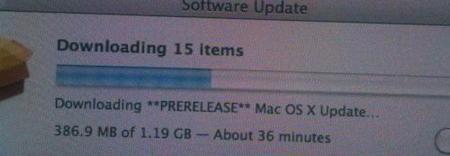 Un usuario recibe una supuesta pre-actualización a Mac OS X 10.6.3