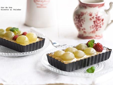 tartaletas de uvas y crema
