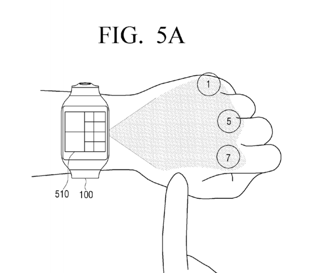 Samsung Patent Numpad Projection Hand 3