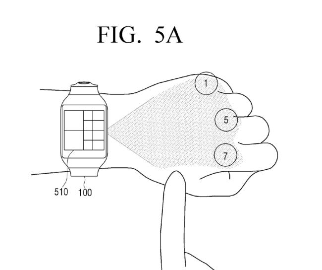 Samsung Patent Numpad Projection Hand 3