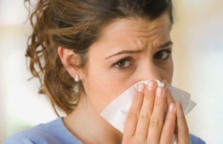dolor en el tabique nasal y cabeza