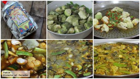 paella de verduras pasos