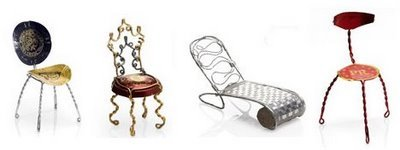 Champagne Chair Contest, sillas en miniatura con tapones de champán