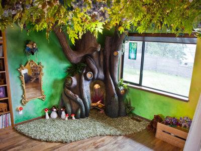 Un padre transforma la habitación de su hija en un lugar de cuento de hadas