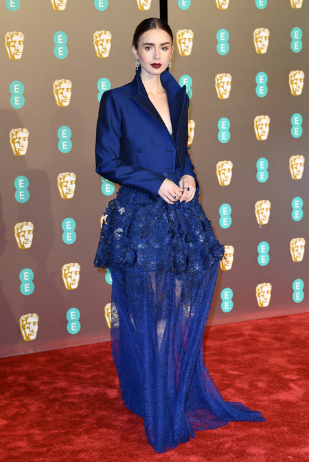 Lily Collins Bafta 2019