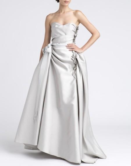 vestido raso lanvin novia