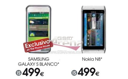 Samsung Galaxy S blanco y Nokia N8, ¿en España?