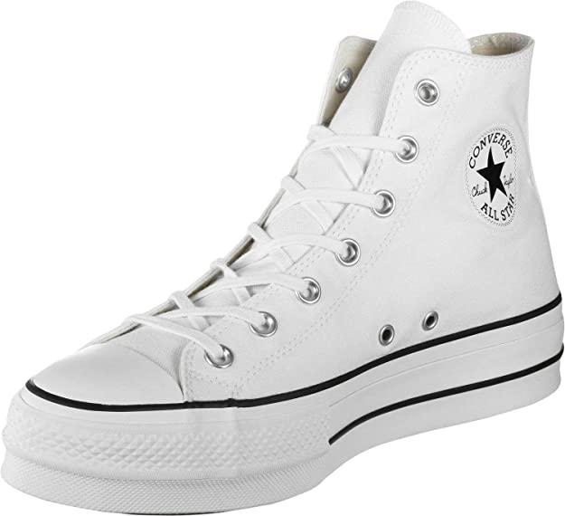 CONVERSE CTAS HI Lift Canvas LTD Platform Zapatos Deportivos para Mujer Gris 563113C