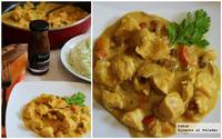 Receta de pollo con curry Korma y mermelada de melocotón