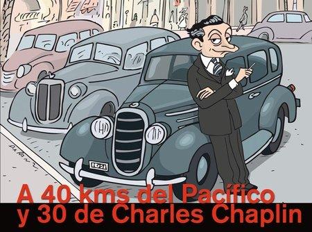 'A 40 kms del Pacífico y 30 de Charles Chaplin', Enrique Jardiel Poncela en Hollywood