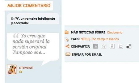 Novedades en ¡Vaya Tele!: webs sociales y el comentario más valorado