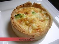 Receta de quiche de langostinos, brócoli y queso brie