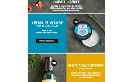 The Body Shop: 40% en la segunda unidad de productos faciales para hombre