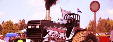Motores en llamas, mucho humo y salvaje fuerza bruta. ¡Bienvenidos al tractor pulling!